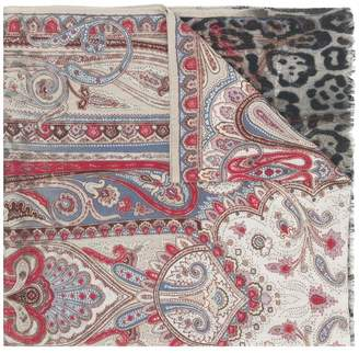Etro mixed pattern scarf