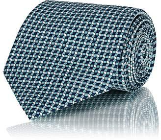 Brioni Men's Diamond-Neat-Pattern Silk Necktie