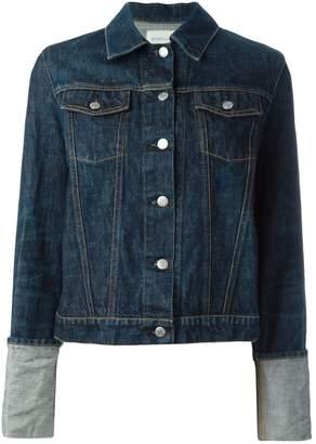 Helmut Lang Pre-Owned folded sleeve denim jacket