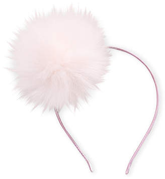 Heart Me Jewelry (Girls 7-16) Pink Faux Pom-Pom Headband