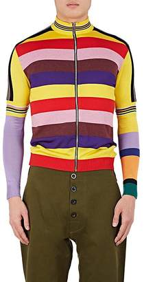 Loewe Men's Striped Zip-Front Cardigan