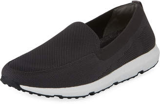 Swims Breeze Leap Knit Boat Shoe, Gray