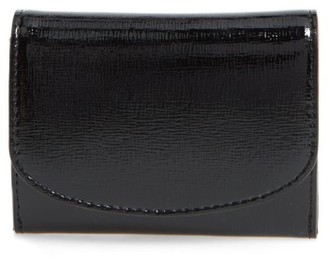 Women's Nordstrom Leather Card Case - Black $35 thestylecure.com