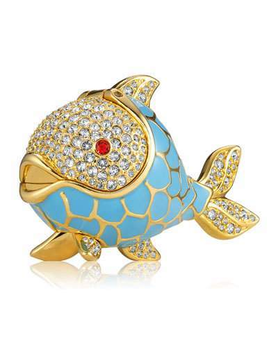 Estee Lauder Limited Edition Beautiful Whimsical Fish Perfume Compact by Monica Rich Kosann