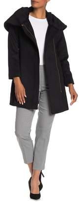 Cole Haan Wool Blend Cowl Neck Jacket