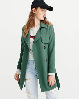 Abercrombie & Fitch Drapey Trench Coat