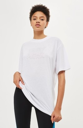 Women's Ivy Park Embossed Logo Tee $40 thestylecure.com