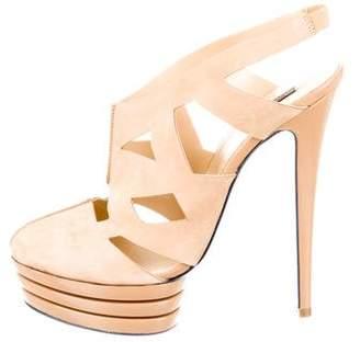 Versus Suede Platform Sandals