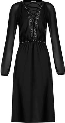 Altuzarra Millows lace-up stud-embellished dress
