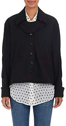 Mayle Maison Women's Matilde Stretch-Wool Twill Swing Jacket