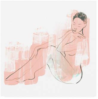 """June Erica Vess Color Block Figure I Canvas Art - 27"""" x 33"""""""