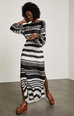 BCBGMAXAZRIA Batik Stripe Maxi Dress