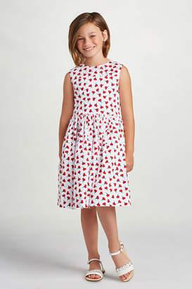 Oscar de la Renta Cherry Print Party Dress