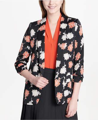 Calvin Klein Ruched-Sleeve Blazer