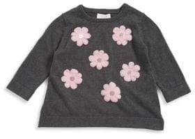 Kate Spade Little Girl's Floral Cotton Sweater