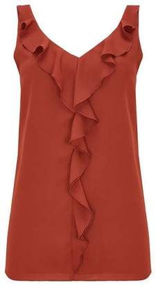 Wallis Rust Ruffle Camisole Top