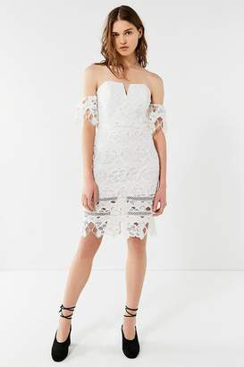 J.o.a. Cold-Shoulder Lace Dress