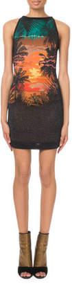 Balmain Sleeveless Sunset-Knit Mini Dress