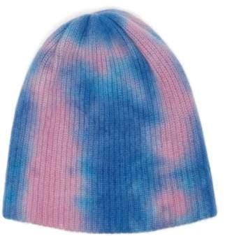 The Elder Statesman Tie Dye Cashmere Beanie Hat - Womens - Purple