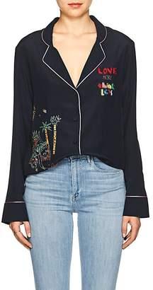 Mira Mikati Women's Venice Beach Embellished Silk Blouse