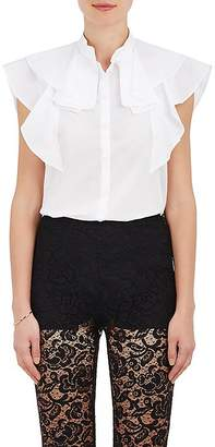 Givenchy Women's Ruffle Cotton Mousseline Blouse