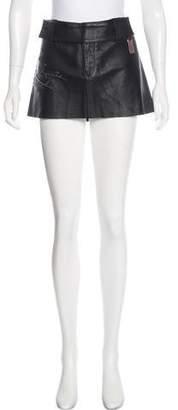 Thomas Wylde Leather Mini Skirt w/ Tags
