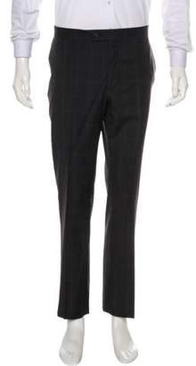 John Varvatos Plaid Wool Dress Pants