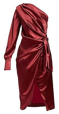 Altuzarra Women's Chanda Knotted One-Shoulder Midi Dress