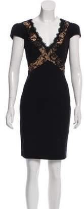 Emilio Pucci Lace-Trimmed Mini Dress