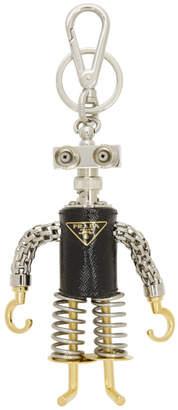 Prada Black Hook Man Robot Keychain