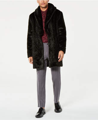 INC International Concepts I.n.c. Men's Faux Fur Overcoat