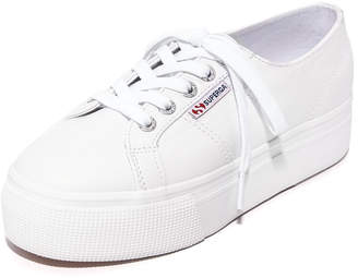 Superga 2790 Platform Leather Sneakers $109 thestylecure.com