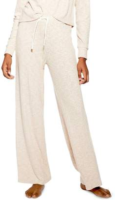 Topshop Ribbed Wide Leg Lounge Pants