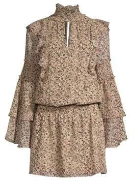 Parker Eliana Animal Print Blouson Dress