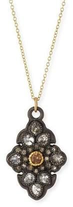 Armenta Old World Garnet & Diamond Scroll Pendant Necklace