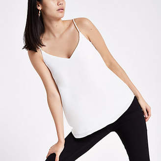 River Island White embellished strap cami top