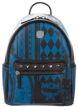 MCM Small Stark Baroque Print Backpack