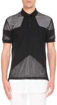Givenchy Mesh Star Polo Shirt