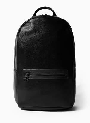 TopmanTopman Black Textured PU Backpack