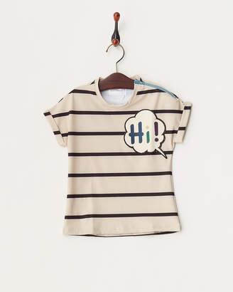 Heloyse Swimwear And More ブラック KIDS HI ボーダーTシャツ│UNISEX