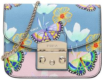 Furla Butterfly Print Mini Metropolis Crossbody Bag