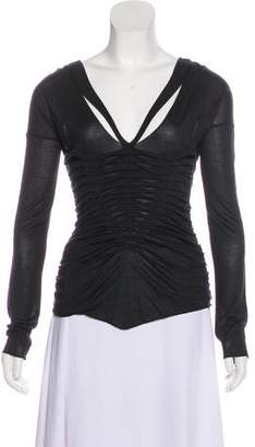 Gucci Ruched Knit Top