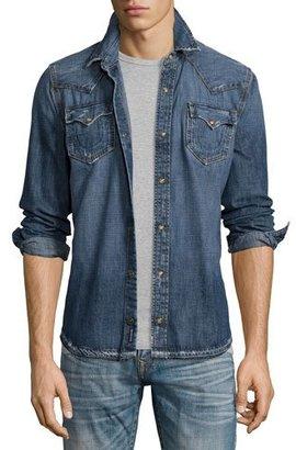 True Religion Ryan Western-Style Denim Shirt, Lone Streets $179 thestylecure.com