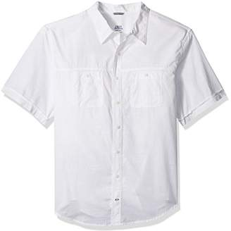 Izod Men's Dockside Chambray Solid Short Sleeve Shirt (Big Tall Slim)