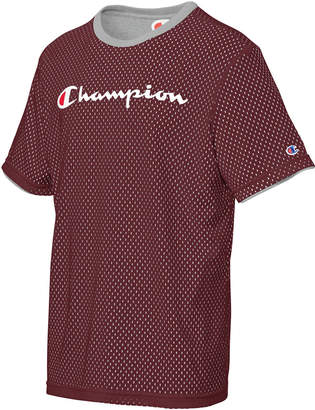 Champion Men Double Dry Reversible Mesh T-Shirt