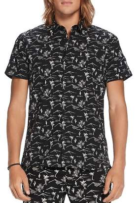 Scotch & Soda Palm Tree Print Regular Fit Button-Down Shirt