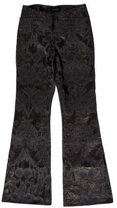 Gucci 2000 Floral Embroidered Leather Pants