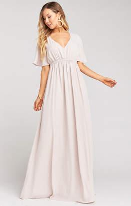 Show Me Your Mumu Emily Empire Maxi Dress ~ Show Me The Ring Crisp