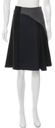 Derek Lam Fluted Colorblock Skirt