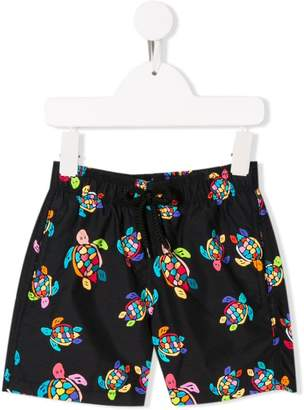 d0cae0a19e2ea Vilebrequin Kids over the rainbow turtles swim shorts